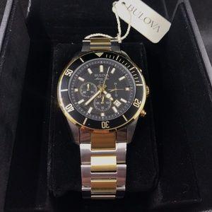 Bulova Marine Star Chronograph Two-Tone Mens Watch